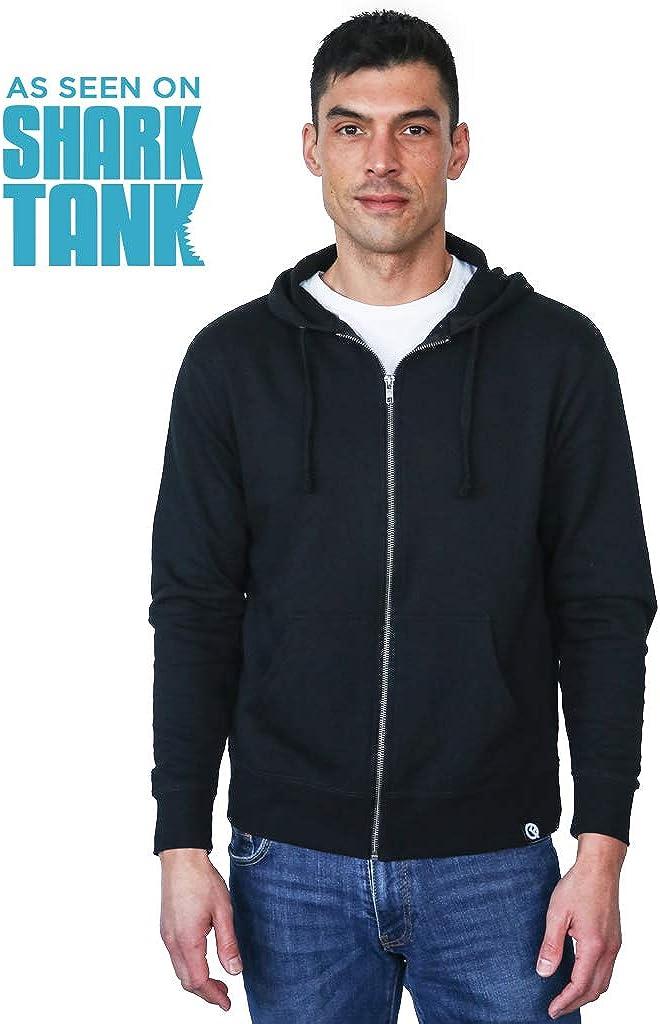 Unisex Full-Zip Hero Hoodie Lite Quikflip 2-in-1 Reversible Backpack Hoodie As Seen on Shark Tank