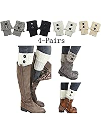 Mai Poetry Womens Stretch Lace Boot Leg Cuffs Soft Laced Boot Socks