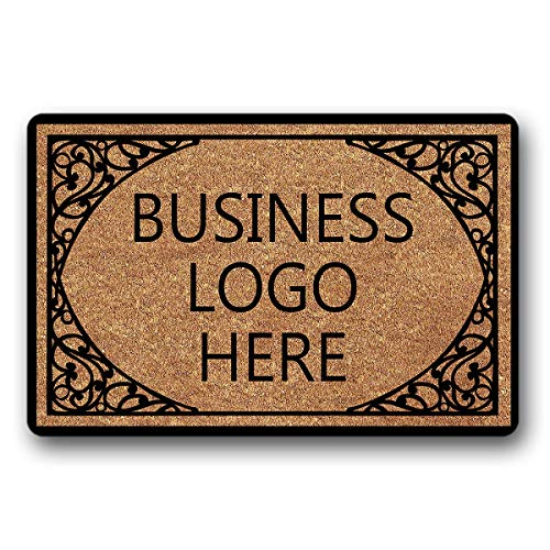"Bernie Gresham Entrance Floor Mat Funny Doormat Business Logo Here Door mat Decorative Indoor Outdoor Doormat Non-Woven Fabric Top 30""x18"""