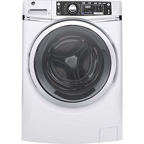 GE GFW480SSKWW Front Load Stackable With Steam Cycle Washer, 4.9 Cu. Ft. Capacity, White,