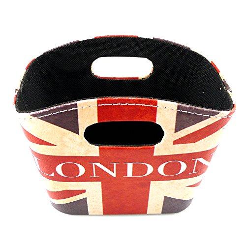 Chadstone Union Jack Design Storage Basket PU Leather Magazine Newspaper Baskets British Style Desk Organizers (B) (Baskets Design)