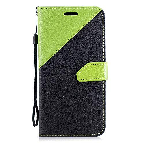 (TOTOOSE Sony Xperia XZ2 Case Flip Cover Shell Case for Sony Xperia XZ2 - Green + Black )