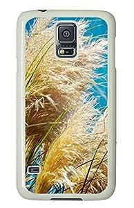 Samsung S5 silicone case Wild Grass PC White Custom Samsung Galaxy S5 Case Cover