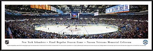 New York Islanders - Final Game at Nassau Coliseum - Blakeway Panoramas NHL Posters with Standard Frame