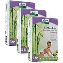 Aleva Naturals Bamboo Baby Diapers Value Pack, Size 3, 84 Count
