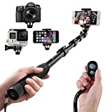 Image of Selfie Stick, Arespark Self-portrait Monopod Wireless Bluetooth Selfie Stick With Adjustable Phone Holder, Extends to 50 Inches