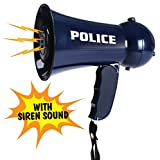 Plutofit Police Officer Pretend Play Kids Toy Megaphone with Siren Sounds For Kids