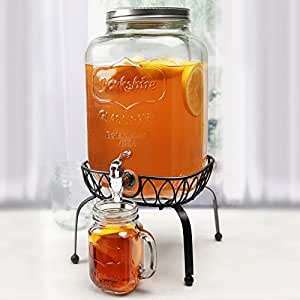 Circleware Georgia Peach Mason Jar Beverage Dispenser w/ Stand