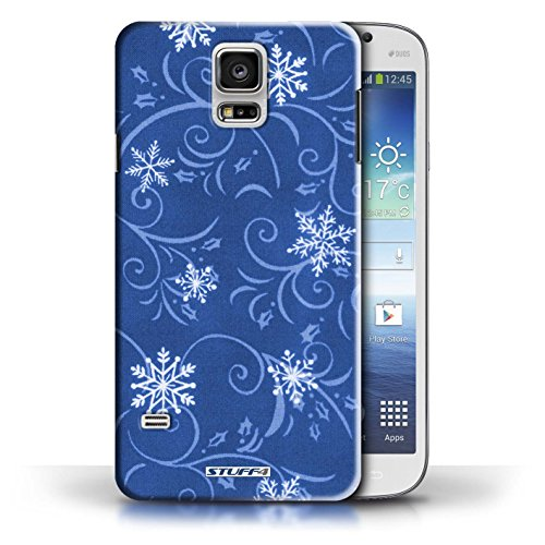 pour Samsung Galaxy S5/SV / Bleu conception / Collection de Motif flocon de neige