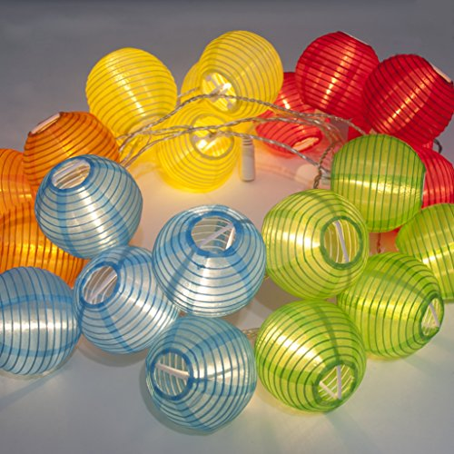 24 MULTI COLOR EXTRA LONG EXTENDABLE INDOOR OUTDOOR MINI NYLON STRING PATIO LIGHTS - 16ft ...