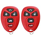 KeylessOption Keyless Entry Remote Start Control Car Key Fob Replacement for 22733524-Red (Pack of 2)