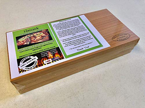 - Hancock Handmade Western Red Cedar Grilling Planks
