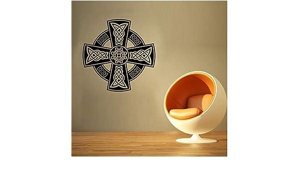Qqasd Patrón de la moda irlandesa de la cruz celta pegatinas de ...