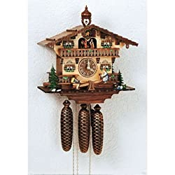 Anton Schneider Cuckoo Clock Chalet with Moving Children on a See-Saw