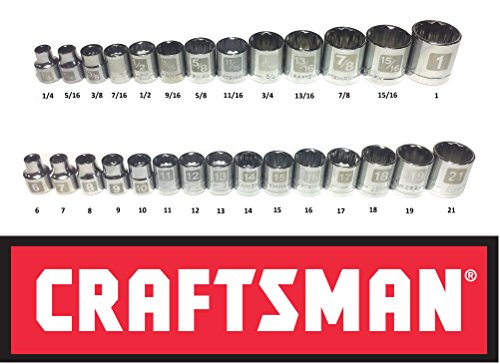 Metric Shallow Socket (Craftsman 28 Piece SAE Standard & Metric 3/8
