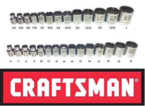 Craftsman 28 Piece SAE Standard & Metric 3/8