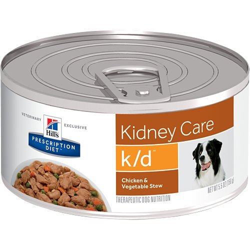 Hill's Pet Nutrition K/d Kidney Care Chicken & Vegetable Stew Canned Dog Food, 5oz, 24 Pack Wet Food