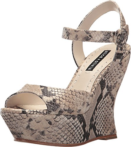 Alice & Olivia Jana Natural Animal Print Platform Sandals (39 M EU) (Alice Olivia Dress Sequin)