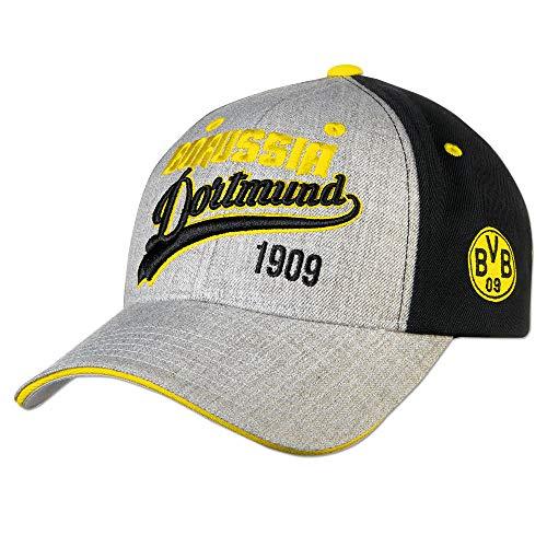 こどもの日デモンストレーション信号BVB(ドルトムント) オフィシャル Borussia Dortmund キャップ(グレー×ブラック) 18270700