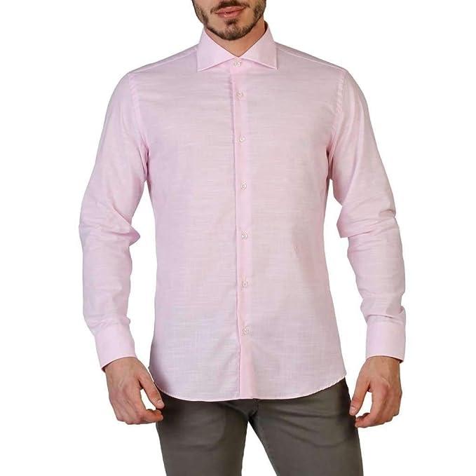 buy online d689a a7196 Trussardi Camicie e Bluse Uomo Rosa (32C17SINT): Amazon.it ...
