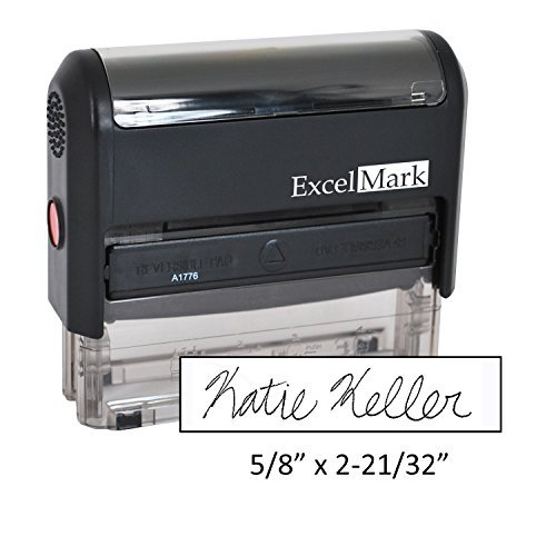 Custom Signature Stamp - Self Inking - Black Ink (Medium)