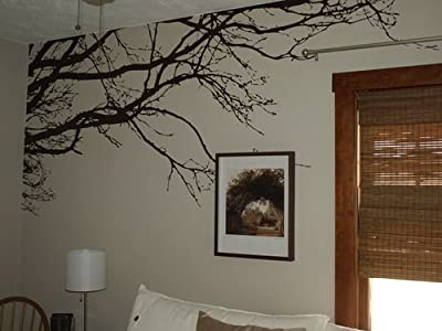 "Tree Top Wall Branch Decal Nursery Decor (8ft Wide X 44"" High) Choose Colors #1130 by Innovative Stencils"