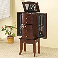 Coaster 900142 Jewelry Armoire, Cherry