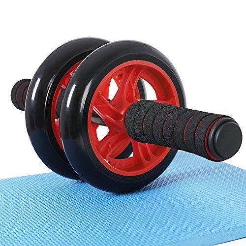 "EXCELENTE: Rueda abdominal ""Extreme Ab Roller"" con bandas de resistencia y esterilla :: 150 kg :: rodillo abdominald con rueda doble :: montaje rápido sin tornillos :: BONUS E-book :: garantía de 3 añ hF6OAOI4Vg"