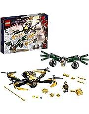 LEGO 76195 Super Heroes Spider-Mans drönarduell, Superhjälte Byggsats, Marvel Leksak för Barn 7+ år