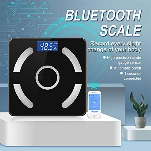PRWJH Vendita Intelligente Bilancia per Il Grasso corporeo, Bilancia pesapersone Bilancia pesapersone, bilance pesapersone digitali, Bilancia Bluetooth Connect, Display LCD, 180Kg