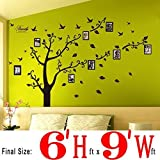 #2: Dearm-home® 6'(h) X 9'(w) Huge Size Family Photo Frame Tree Quote Picture Removable Wall Decor Art Stickers Vinyl Decals Home Decor Include 11birds for Living Room&bedroom