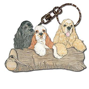 Amazon.com: PP Cocker Spaniel perro de raza de madera ...