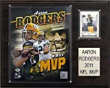 NFL Aaron Rodgers 2011 NFL MVP Green Bay Packers Player Plaque
