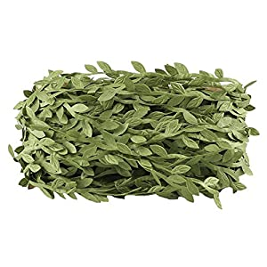 HOGADO Artificial Vines, 132 Ft Fake Hanging Plants Silk Ivy Garlands Simulation Foliage Rattan Green Leaves Ribbon Wreath Accessory Wedding Wall Crafts Party Decor 7