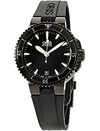 Oris Unisex black dial, silicone bracelet watch 73376524722RSXG (Certified Refurbished)