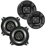 Polk 4-inch 135W Speakers Kicker CS Series 4-inch Coaxial Speakers