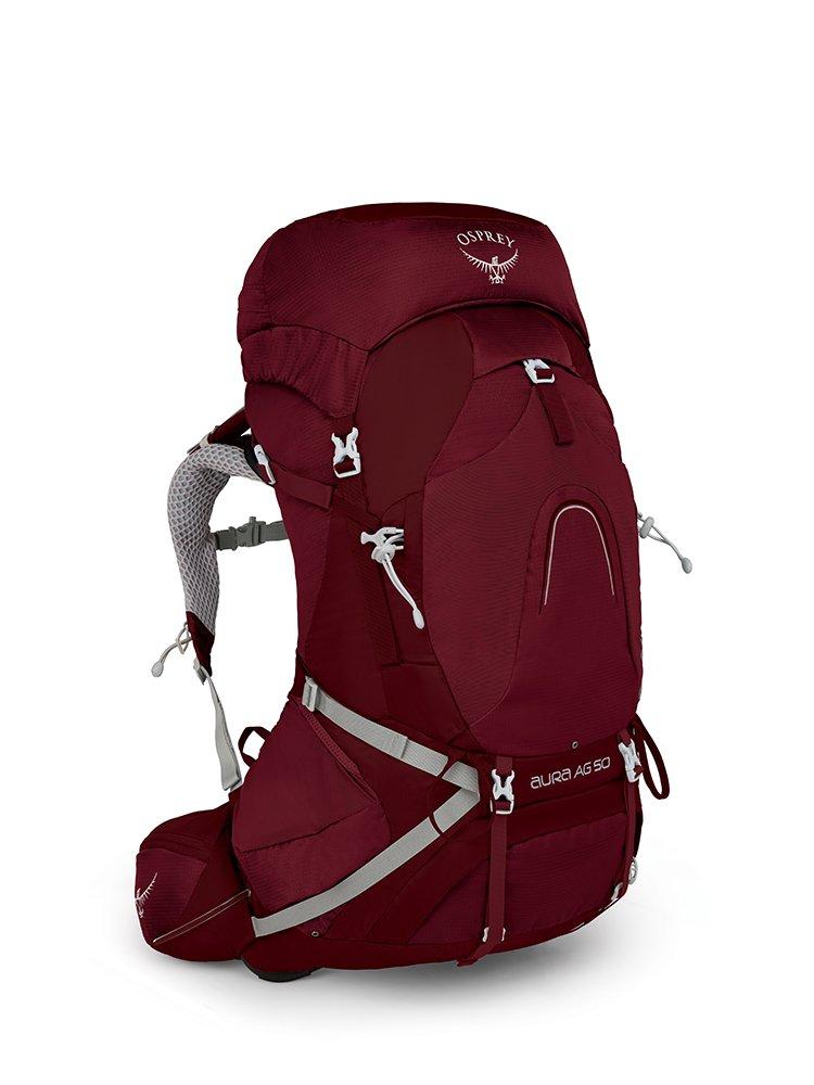 Osprey Packs Pack Aura Ag 50 Backpack, Gamma Red, Medium