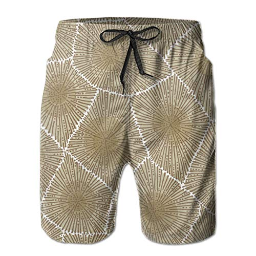 Petoskey Stone Texture Mens Beach Shorts Swimming Trunks Dry Fit Board Short with Lining