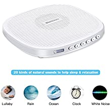 White Noise Machine, Yostyle Sleep Sound Therapy Machine with 20 Soothing Sound and Sleep Timer for Baby, Kids, Adults, Infants with Natural Wind, Ocean Sound Effects