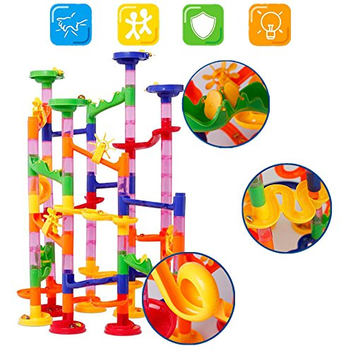 U.WILL Marble Run Toy - 105 Pcs Marble Game STEM Learning Toy, Educational Construction Building Blocks Toy, Marble Set Gift for Kids 4 5 6 + Year Old Boys Girls by U.WILL (Image #6)