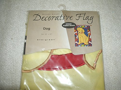 Evergreen Artistic Blends Yellow Labrador Retriever Decorative Applique' Flag 29
