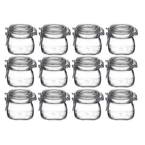 Bormioli Rocco Fido Vaso Square Jar, 17.5 Ounces,