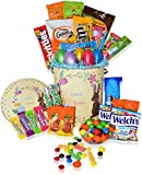 Easter Basket Tin (30ct) - Premade, Kids, Boys, Girls - Filled with Easter Eggs, Candy, Chocolate - Great Easter Care Package for Family and Friends -Huevos de Pascua