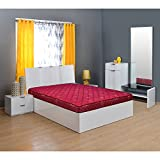 @home by Nilkamal Easy 4-inch Double Size Spring Mattress (Maroon, 75x72x4)