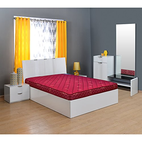 Nilkamal Easy 4-inch Single Size Spring Mattress (Maroon, 75x30x4)