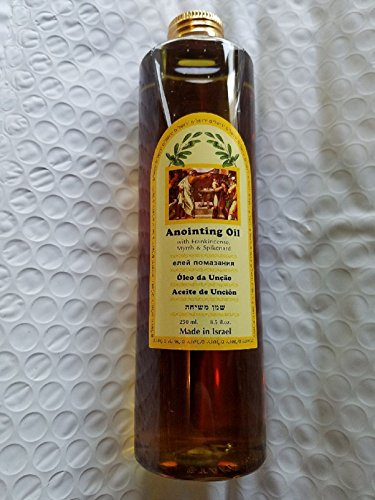 Holy Land Anointing Oil Frankincense Myrrh Spikenard Large 250ml Best Sense by Bethlehem Gifts TM