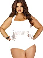 Baymate Femmes Grande Taille Bikini Maillot De Bain Tassel Padded 2 Pièces Bathing Suit