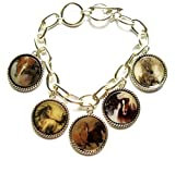 New Silver Cowgirl Rodeo Western Horse Vintage Look Charm Bracelet