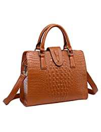 SAIERLONG HAD Women's Crocodile Cowhide Commuter Bag Handbag Shoulder Bag