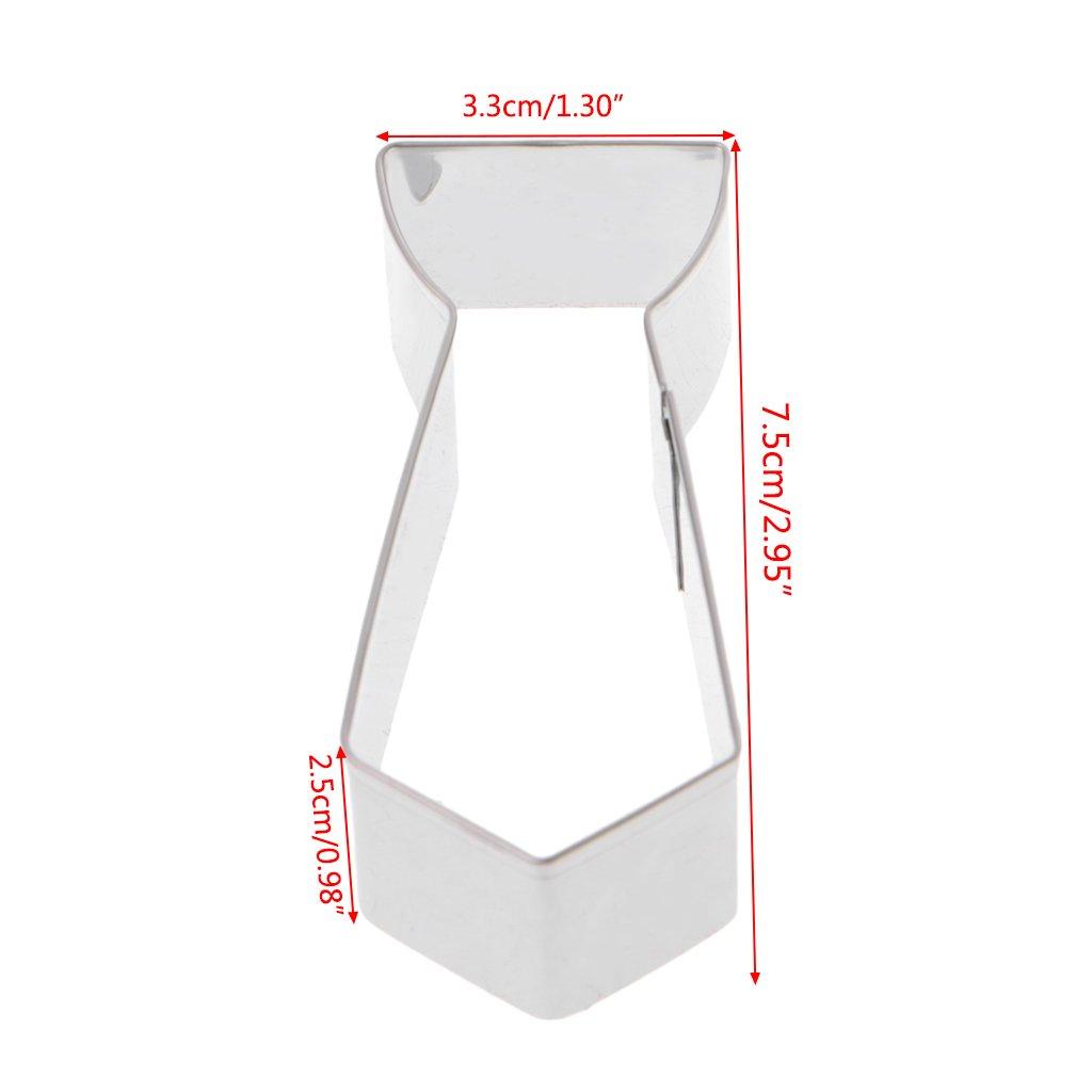 LyGuy Molde Cortador de Galletas, Forma de Corbata 3D, Molde ...